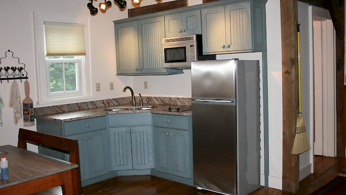 Cottage green Medallion Kitchen.