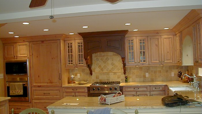 Antique pine Kitchen with Cherry Accents.
