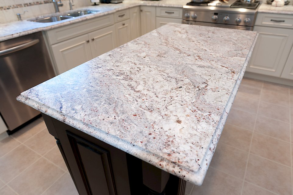 Granite Counter-top on the kitchen island.