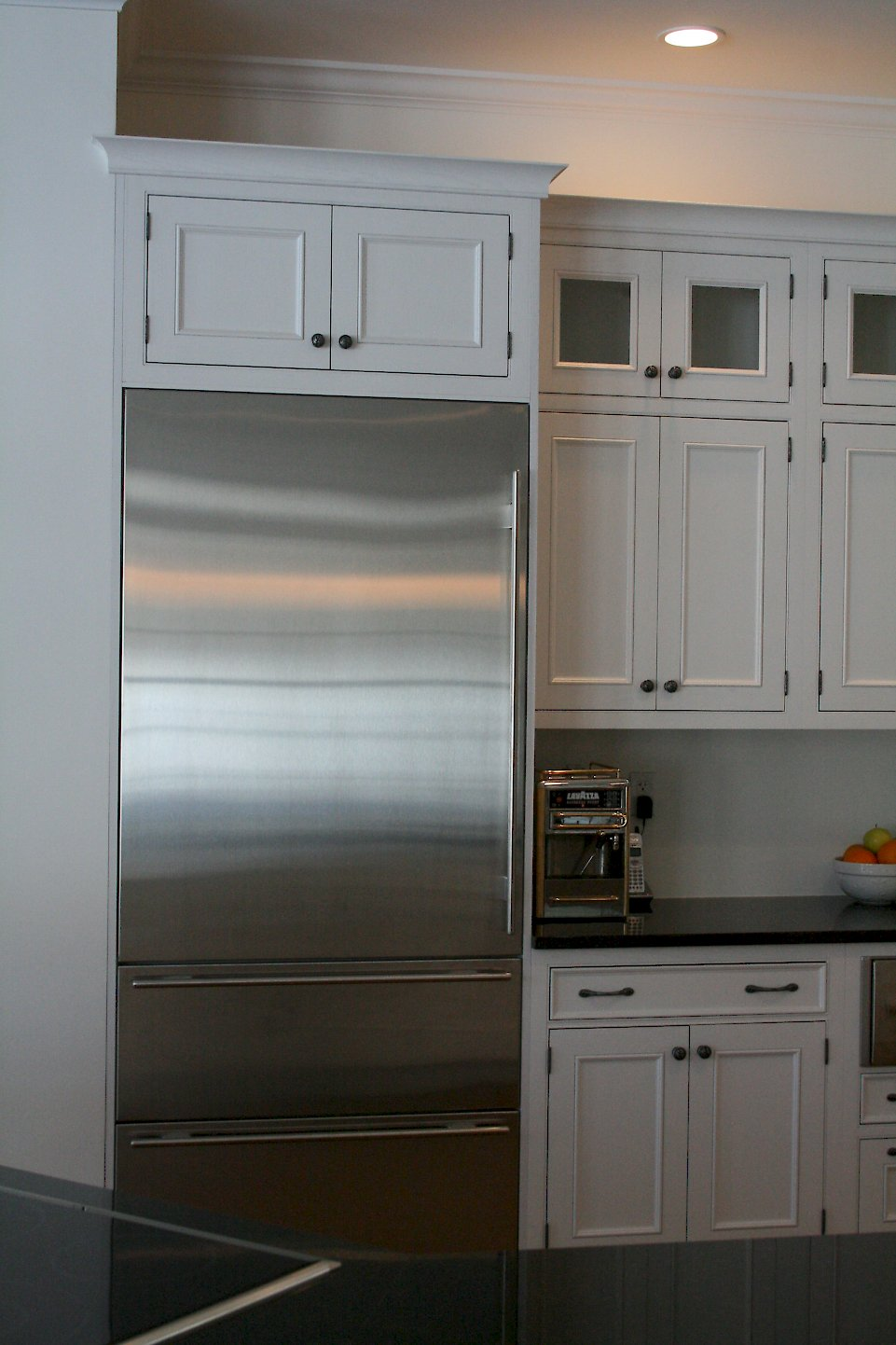 Sub-Zero #736TCI refrigerator with a stainless front.