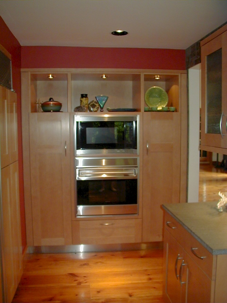 Wolf 30U/S Stainless oven and a Wolf MW24 microwave.
