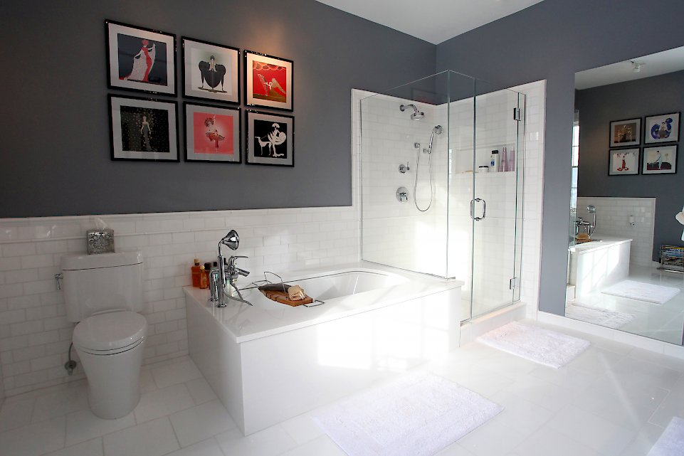 A Private Spa Categorized Under Modern Bathroom Portfolio - Thassos white marble bathroom