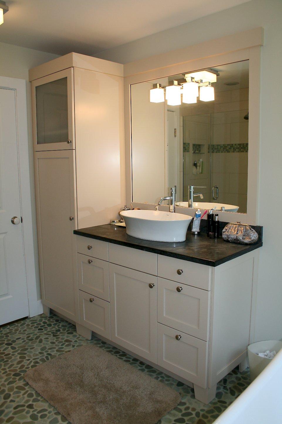 An Exquisite Combination Categorized Under Transitional Bathroom Portfolio