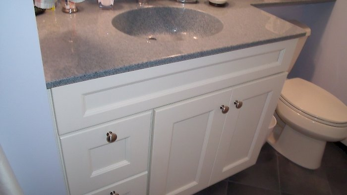 Medallion vanity with Divinity Classic Paint finish.