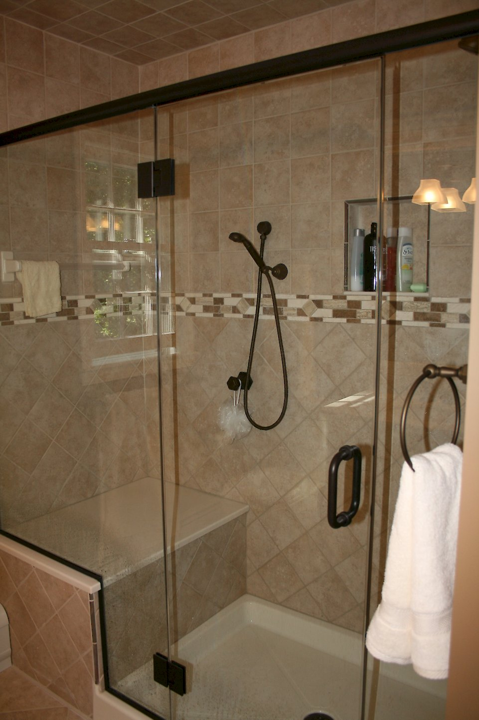 Century Shower doors with Oil rubbed bronze finsh.