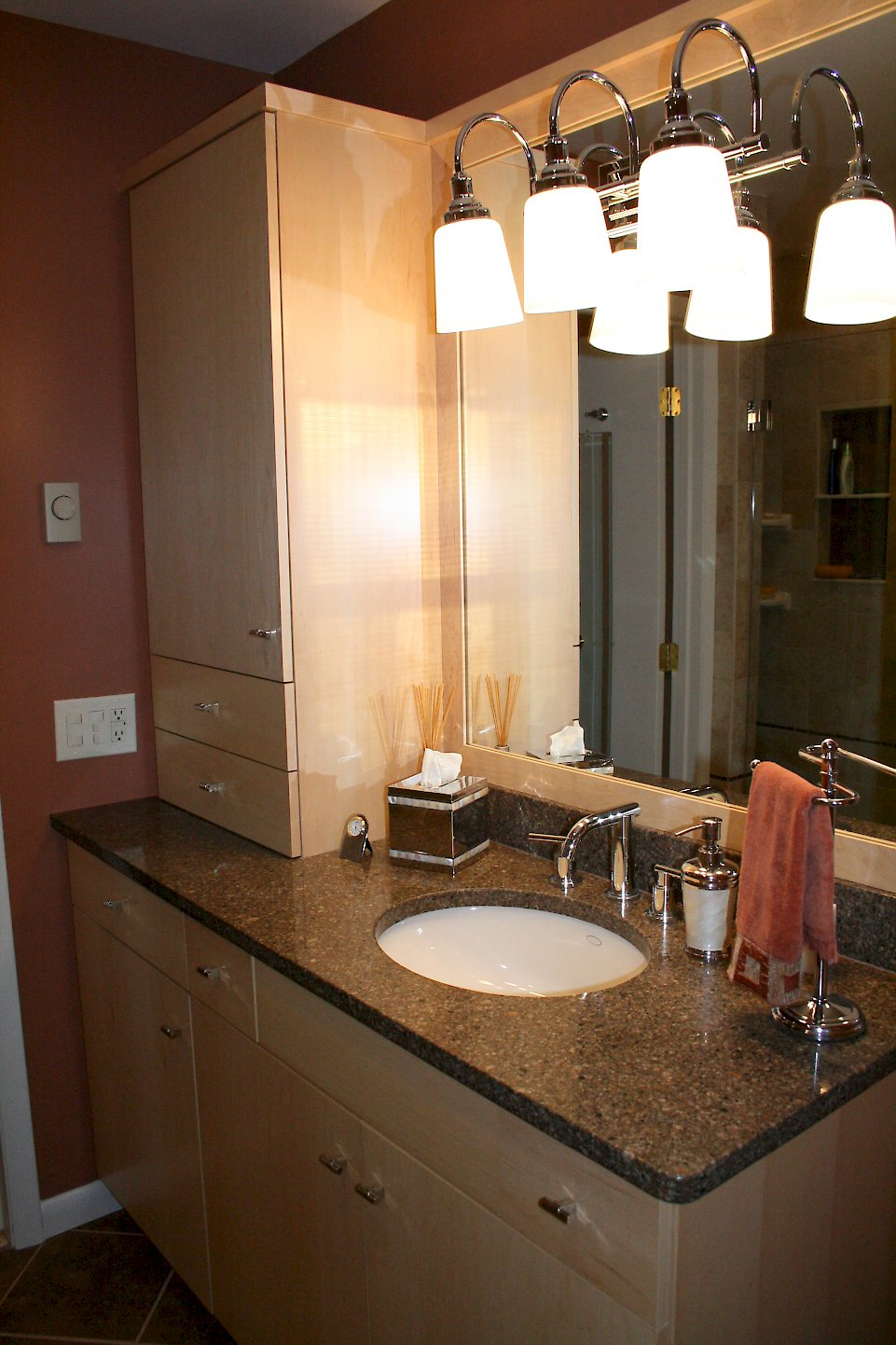 Cambria Quartz Ashford vanity top.