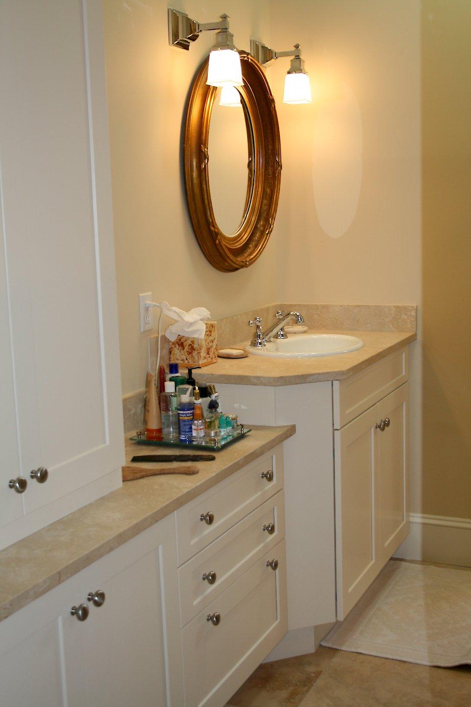 Luscious Limestone Categorized Under Transitional Bathroom